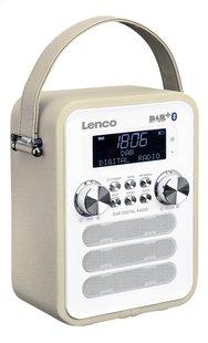 Lenco radio DAB+ PDR-050 taupe-Côté gauche
