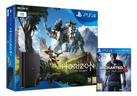 PS4 Slim console 1 To + Horizon Zero Dawn + Uncharted 4