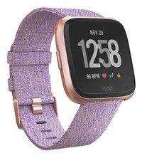Fitbit montre connectée Versa Lavender-Côté gauche