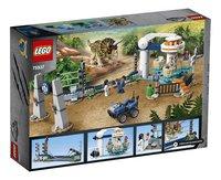 LEGO Jurassic World 75937 Triceratopschaos-Achteraanzicht