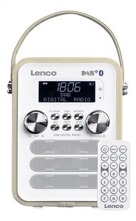 Lenco radio DAB+ PDR-050 taupe-Avant