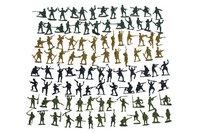 Speelset 100 soldaatjes-Vooraanzicht
