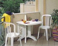 Grosfillex Chaise de jardin Miami blanc-Image 1