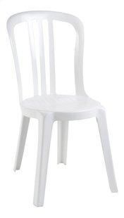 Grosfillex Chaise de jardin Miami blanc-Côté gauche