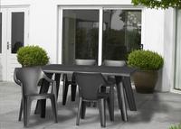 Allibert table de jardin Dante gris graphite 160 x 90 cm-Image 3