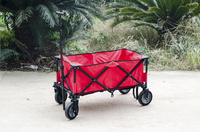 Campman Chariot pliant rouge-Image 1