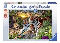 Ravensburger puzzel Verborgen Tijgers-Vooraanzicht