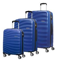 American Tourister set van 3 harde trolleys Oceanfront Ocean Blue-Vooraanzicht