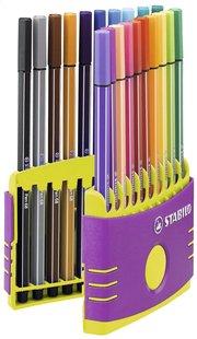 STABILO feutre Pen 68 Color Parade mauve - 20 pièces-Avant