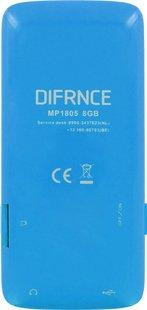 Difrnce mp4-speler MP1805 8 GB blauw-Achteraanzicht