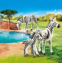 PLAYMOBIL Family Fun 70356 Zebra's met baby-Afbeelding 1