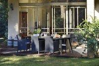 Allibert Table de jardin Lima gris graphite L 240 x Lg 97 cm-Image 1