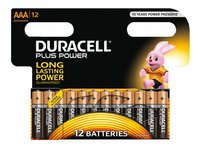Duracell 12 AAA-batterijen Plus Power
