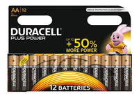 Duracell 12 AA-batterijen Plus Power