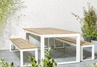 Table de jardin Selena blanc L 220 x Lg 100 cm-Image 3