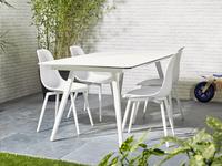 Table de jardin Mimosa blanc L 180 x Lg 90 cm-Image 4