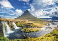 Ravensburger puzzel Waterval voor Kirkjufell IJsland-Vooraanzicht