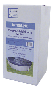 Interline winterafdekzeil Diana diameter 4,90 m-Vooraanzicht
