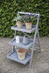 Esschert Design étagère à plantes Échelle gris-Image 1