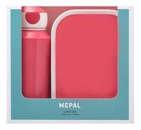 Mepal brooddoos en drinkfles Campus Pink-Vooraanzicht