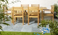 Table de jardin à rallonge Madrid L 160 x Lg 90 cm-Image 2