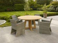 Table de jardin Desvres en teck diamètre 150 cm-Image 1