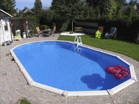 Interline ensemble piscine Diana L 7,30 x Lg 3,60 m-Image 1