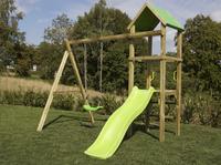 BnB Wood schommel Little Eden met lime glijbaan-Afbeelding 1