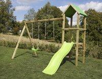 BnB Wood schommel Little Eden met lime glijbaan-Afbeelding 2
