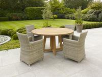 Table de jardin Desvres en teck diamètre 150 cm-Image 2