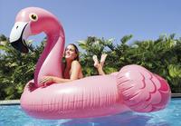 Intex matelas gonflable pour 2 personnes Mega Flamant rose-Image 1