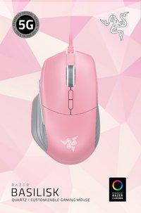 Razer souris Basilisk Chroma Gaming Mouse Quartz rose-Avant