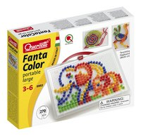 Quercetti insteekparels Fanta Color large 270 stuks met handvat