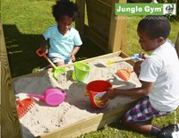 Jungle Gym houten speeltoren Cubby met groene glijbaan-Artikeldetail