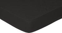Sleepnight drap-housse noir en coton 140 x 200 cm