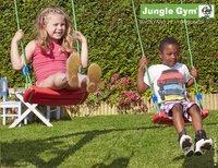 Jungle Gym houten schommel Cubby met blauwe glijbaan-Artikeldetail