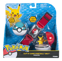 Tomy set Pokémon Clip 'n' Carry Poké Ball Belt Pikachu Net Ball