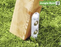 Jungle Gym houten schommel Cottage met gele glijbaan-Artikeldetail