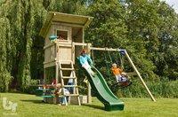 Blue Rabbit 2.0 schommel met speeltoren en glijbaan Beach Hut groen-Afbeelding 1
