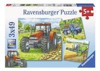 Ravensburger 3-in-1 puzzel Landbouwmachines-Vooraanzicht