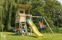 Blue Rabbit 2.0 portique avec tour de jeu et tobbogan Beach Hut jaune-Image 3