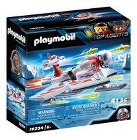 PLAYMOBIL Top Agents 70234 Spy Team Piloot-Linkerzijde