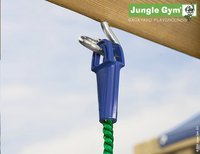 Jungle Gym houten schommel Cottage met blauwe glijbaan-Artikeldetail