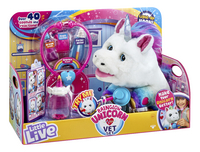 Interactieve knuffel Little Live Pets Rainglow Unicorn Vet Set-Linkerzijde