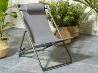Chaise de plage gris-Image 1