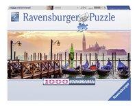 Ravensburger panoramapuzzel Gondels in Venetië-Vooraanzicht