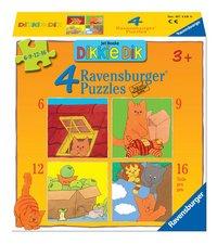Ravensburger puzzle évolutif 4 en 1 Dikkie Dik-Avant