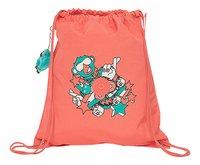 Kipling sac de gymnastique Supertaboo Light Peachy Pink Fun-Avant