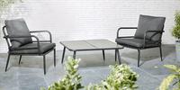 Loungestoel Como zwart-Afbeelding 1