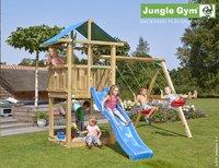 Jungle Gym portique en bois De Hut avec toboggan bleu